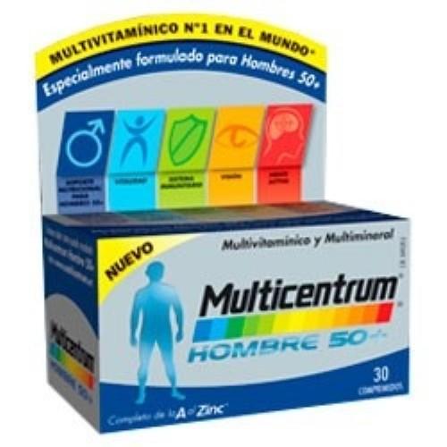 Multicentrum hombre 50+ (30 comp) | Parafarmacia Melguizo
