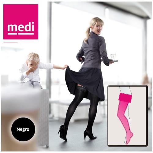 Mediven Elegance A-G Media Hasta Muslo ccl 2 t 2  extra regular negro
