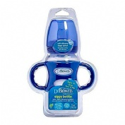 Biberon de transicion boca ancha kit - dr brown´s natural flow (azul 270 ml)