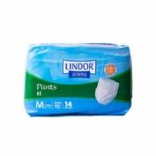 LINDOR PANTS ABSORB INC ORINA ANAT C/ BRAGUITA (T- MED 12 U 4 PAQUETES)