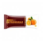 OBEGRASS ENTREHORAS BARRITA - CHOCOLATE NEGRO Y NARANJA (30 G)