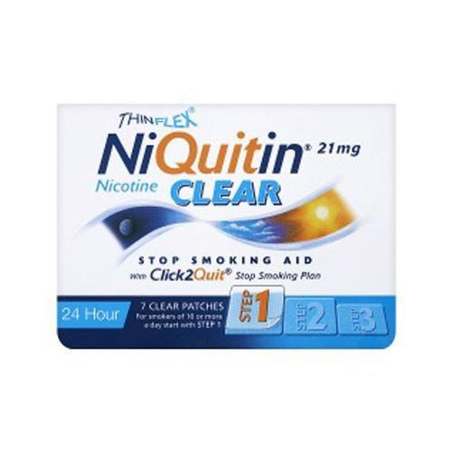 NIQUITIN CLEAR 21 MG/24 HORAS PARCHE TRANSDERMICO 7 parches transdérmicos