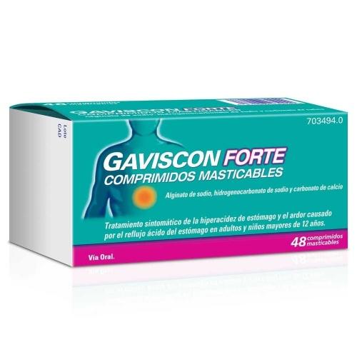 GAVISCON FORTE COMPRIMIDOS MASTICABLES , 48 comprimidos
