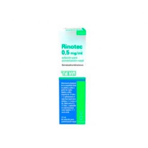 RINOTEC 0,5MG/ML SOLUCION PARA PULVERIZACION NASAL, 1 frasco de 15 ml