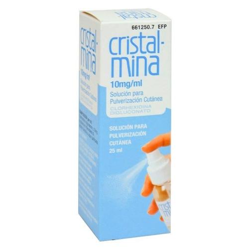 CRISTALMINA 10 mg/ml SOLUCION PARA PULVERIZACION CUTANEA, 1 frasco de 25 ml