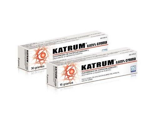 KATRUM  0,025 % CREMA , 1 tubo de 30 g
