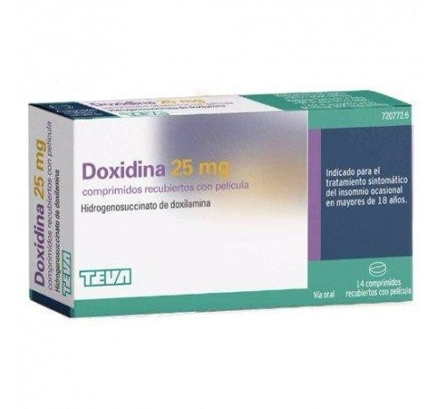 DOXIDINA 25 MG COMPRIMIDOS RECUBIERTOS CON PELICULA 14 comprimidos