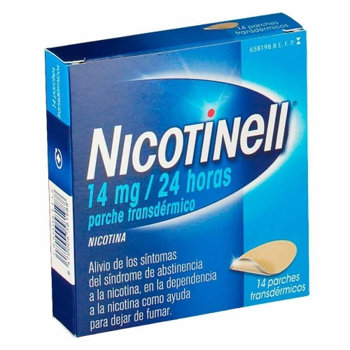 NICOTINELL 14 MG/24 HORAS PARCHE TRANSDERMICO , 14 parches