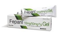 FEPARIL 10mg/g + 50mg/g GEL , 1 tubo de 40 g