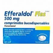 EFFERALDOL FLAS 500 MG COMPRIMIDOS BUCODISPERSABLES, 16 comprimidos (8 + 8)