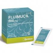 FLUIMUCIL 200 mg GRANULADO PARA SOLUCION ORAL , 30 sobres