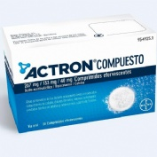 ACTRON COMPUESTO 267 MG/133 MG/40 MG COMPRIMIDOS EFERVESCENTES , 20 comprimidos